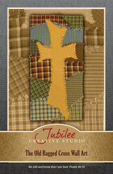 The Old Ragged Cross Wall Art Pattern - DIGITAL