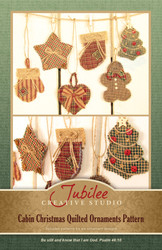 Cabin Christmas Quilted Ornaments Pattern - DIGITAL