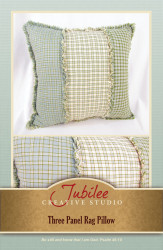 Three Panel Ragged Pillow Pattern - Digital