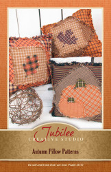 Autumn Pumpkin and Leaf Ragged Pillow Pattern - Digital