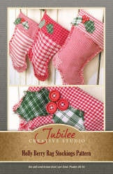 Holly Berry Christmas Stocking Pattern - DIGITAL