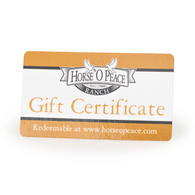 $15 Gift Certificate Front | Horse O Peace Ranch