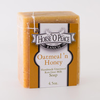 Handmade Goat Milk Soap 100% Raw | Oatmeal 'n Honey Goat Milk Soap | Horse O Peace