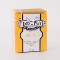Handmade Goat Milk Soap 100% Raw | Calendula Goat Milk Soap | Horse O Peace