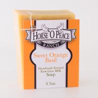 Handmade Goat Milk Soap 100% Raw | Sweet Orange Basil Goat Milk Soap| Horse O Peace