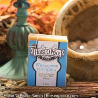 Handmade Goat Milk Soap 100% Raw | Wintergreen Eucalyptus Goat Milk Soap | Horse O Peace