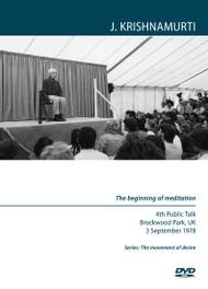 The beginning of meditation