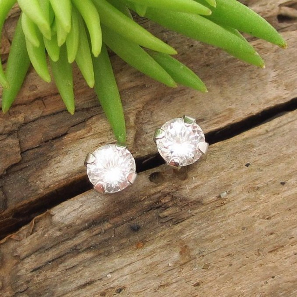 Danburite Stud Earrings