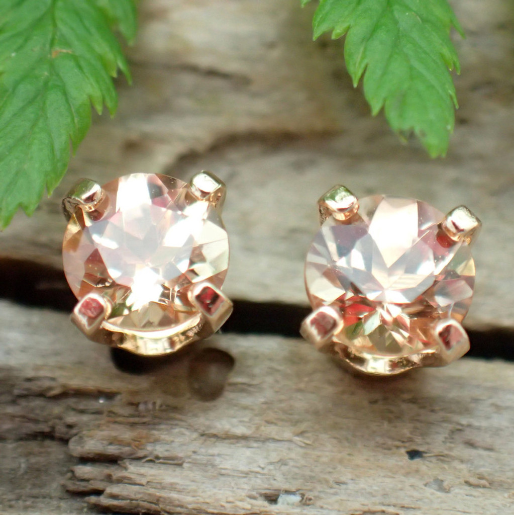 Golden Topaz Stud Earrings, Limited Edition