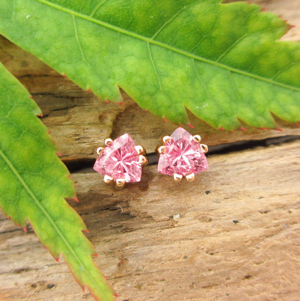 Pink Sapphire Stud Earrings, Limited Edition