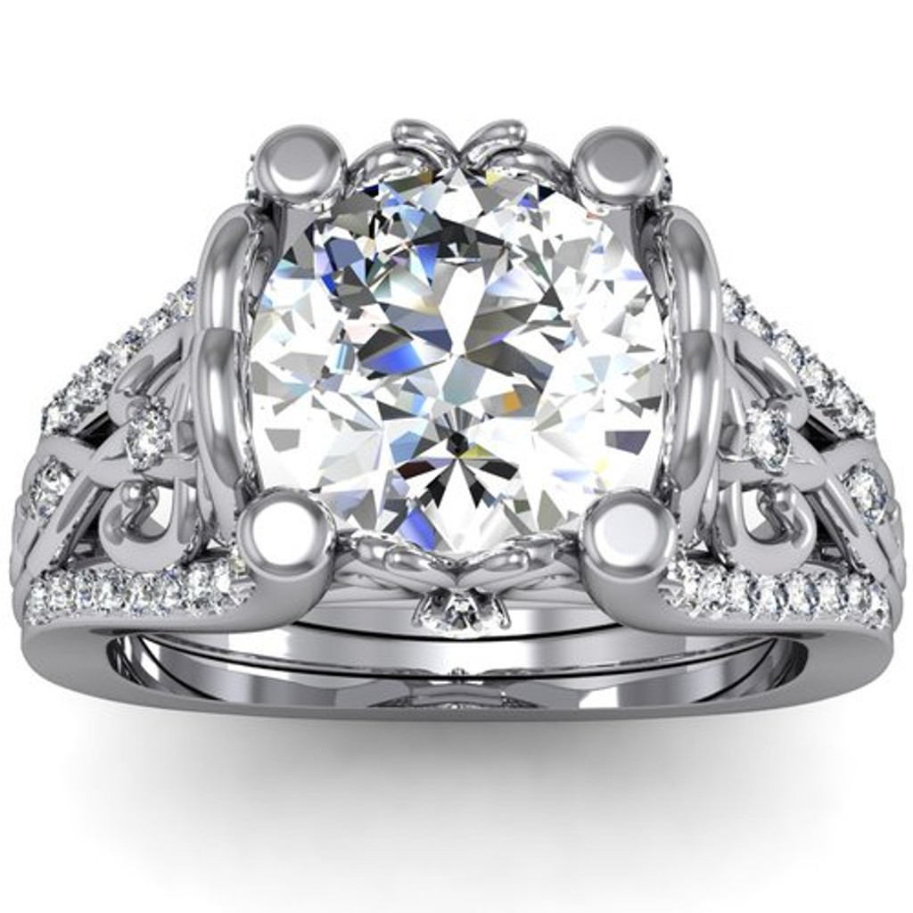 Royalty Engagement Ring | Round 2 Carat Diamond