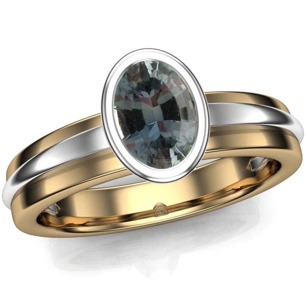 Montana Sapphire Engagement Ring | USA Gem | Oval 1/2ct