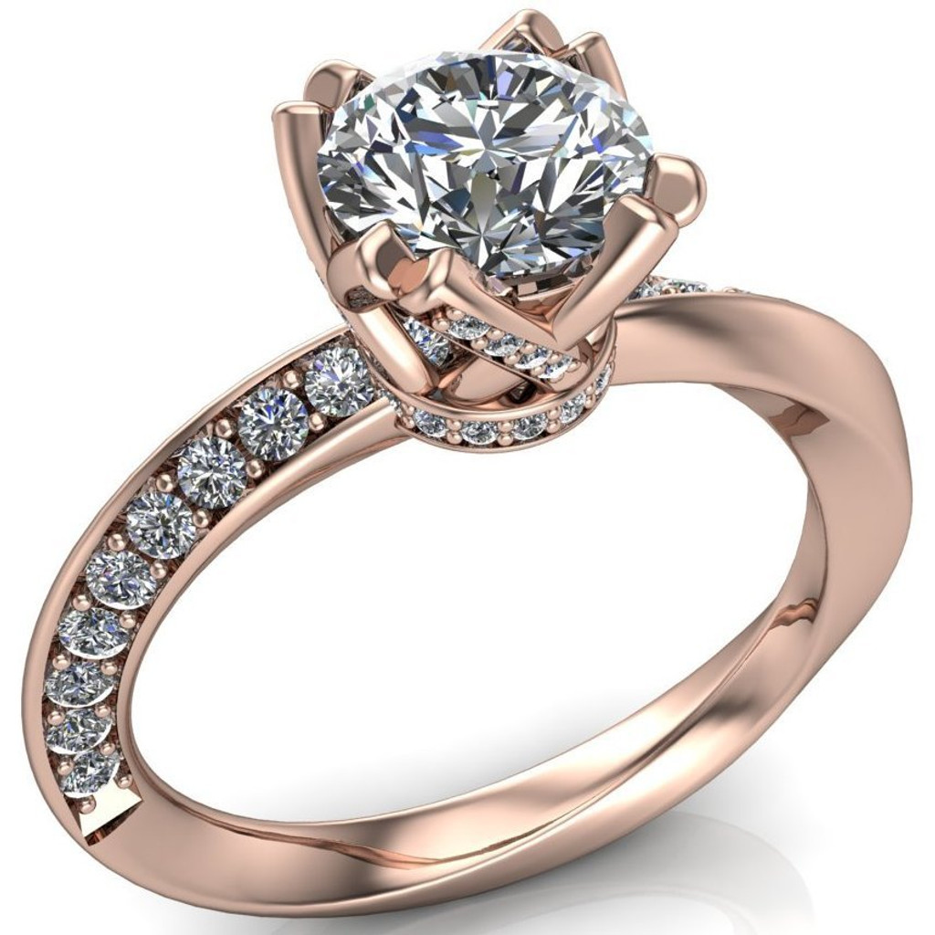 Mobius Twist & Sparkle Engagement Ring | Round 1ct Diamond