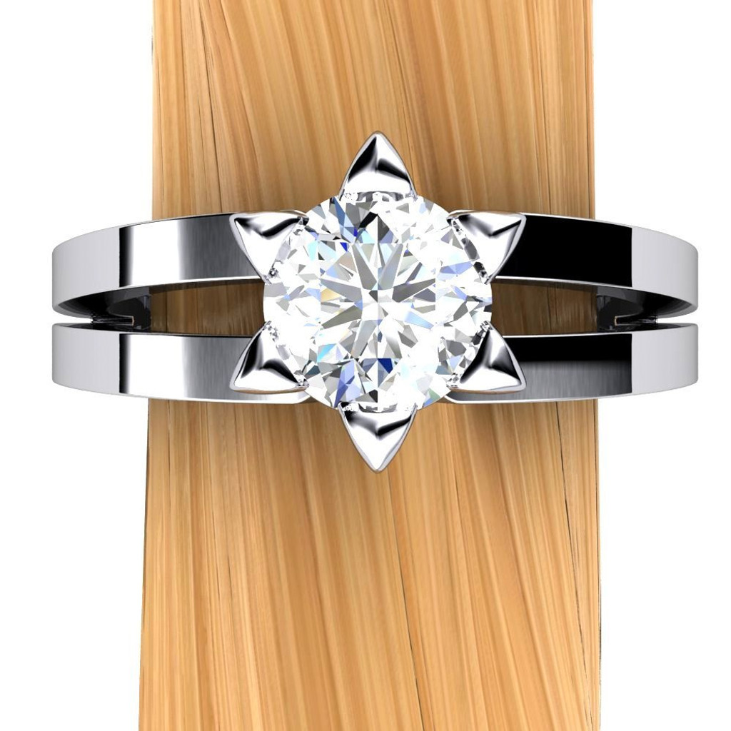 Star of David Engagement Ring | Round 3/4 Carat Diamond