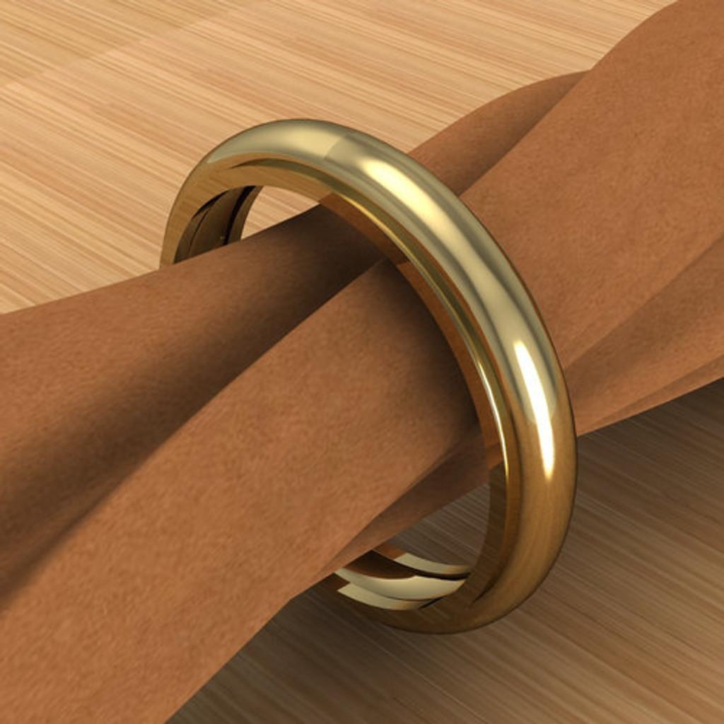 Half Round Groovy Ring | Unisex Custom Wedding Band