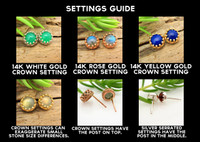 Cabochon earring settings