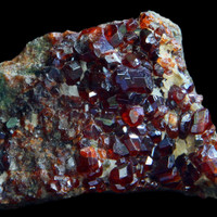 Raw garnet crystal specimen
