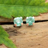 Apatite stud earrings