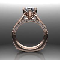 Diamond Engagement Ring | 1 Carat Round | Bold, Modern front view