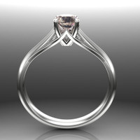 Color Change Sapphire Engagement Ring | Precision Cut Gem