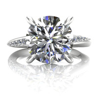 Mobius Twist Cathedral Engagement Ring