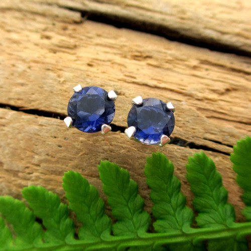 Iolite Stud Earrings
