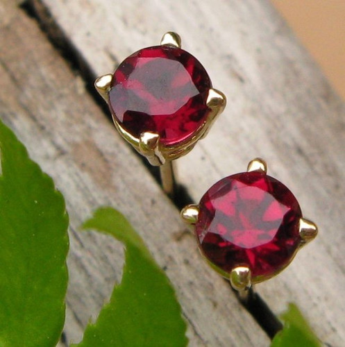 Pink Tourmaline Stud Earrings, Small 4mm Lot 1, Limited Edition