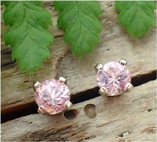 Pink Tourmaline Stud Earrings, Tiny 3mm, Limited Edition