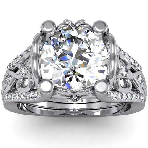 Royalty Engagement Ring | Round 2 Carat Diamond
