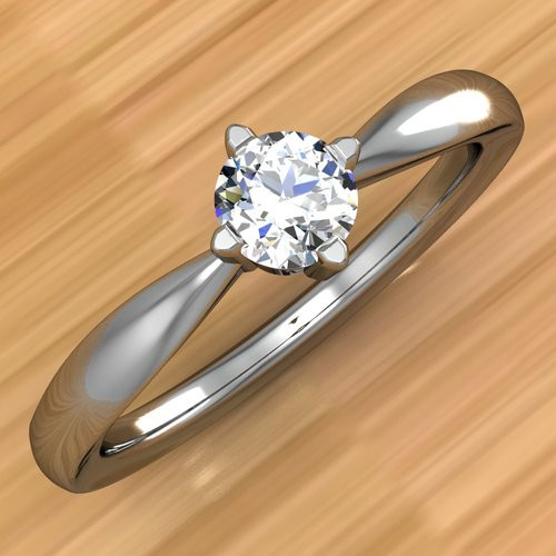 Elegant Affordable Engagement Ring | Round 1/5 Ct Diamond