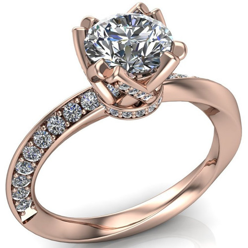 Mobius Twist & Sparkle Engagement Ring | Round 1ct Diamond