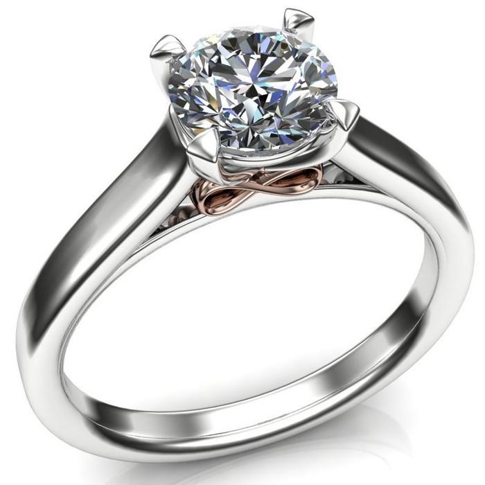 Infinity Underground Engagement Ring | Round .80ct Diamond
