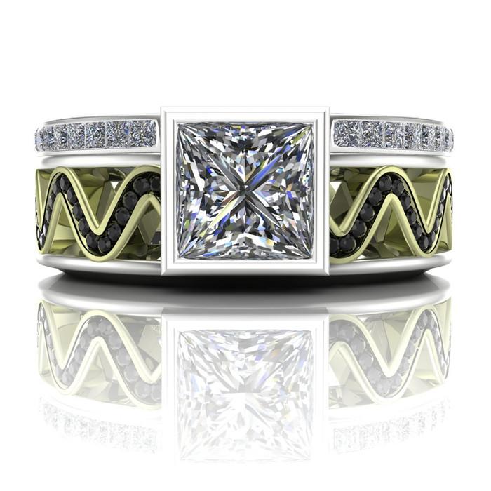 Engagement Ring Square 1 Carat Diamond