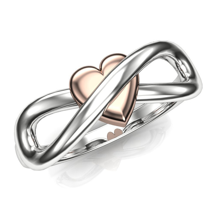 Infinite Heart Infinity Symbol Engagement or Wedding Ring | No Gem