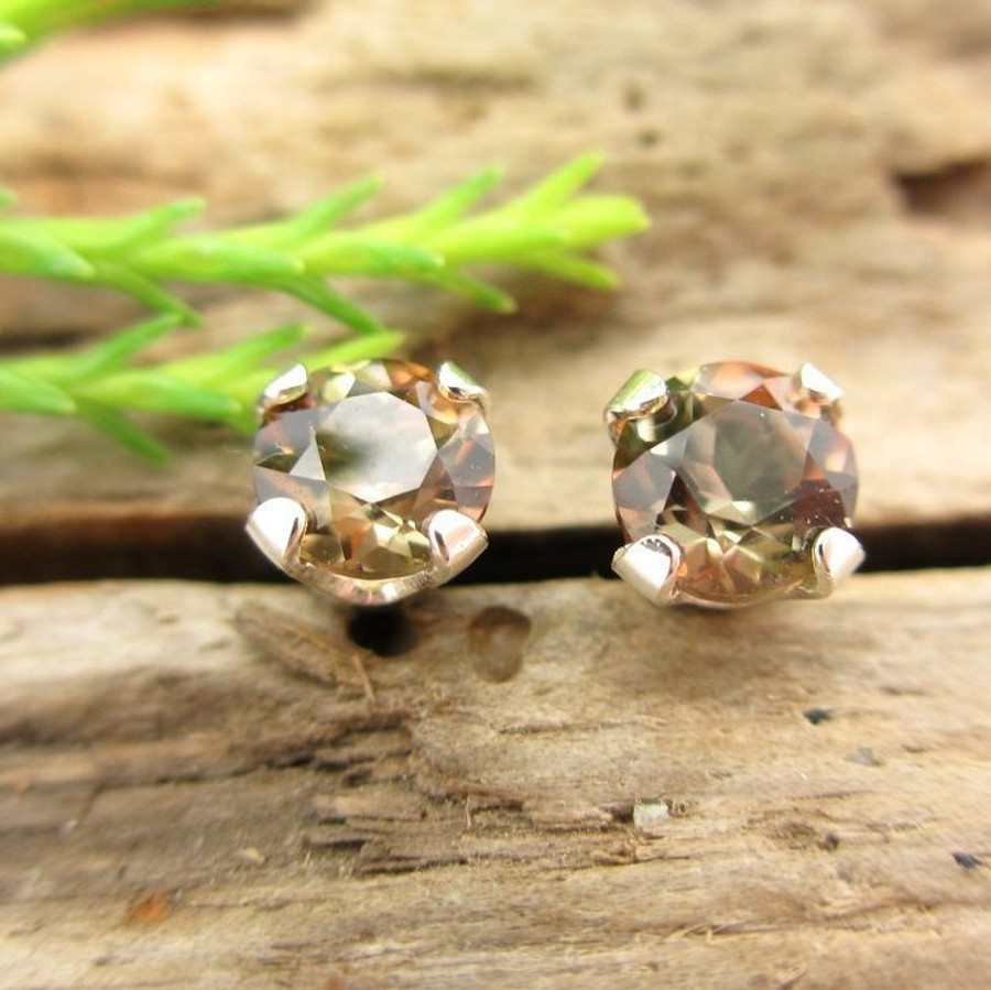 Andalusite stud earrings