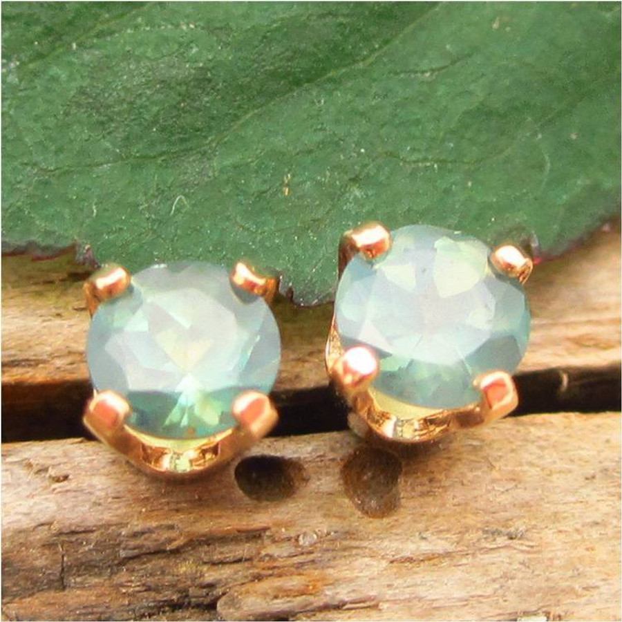 Natural Brazilian Alexandrite Stud Earrings, Limited Edition