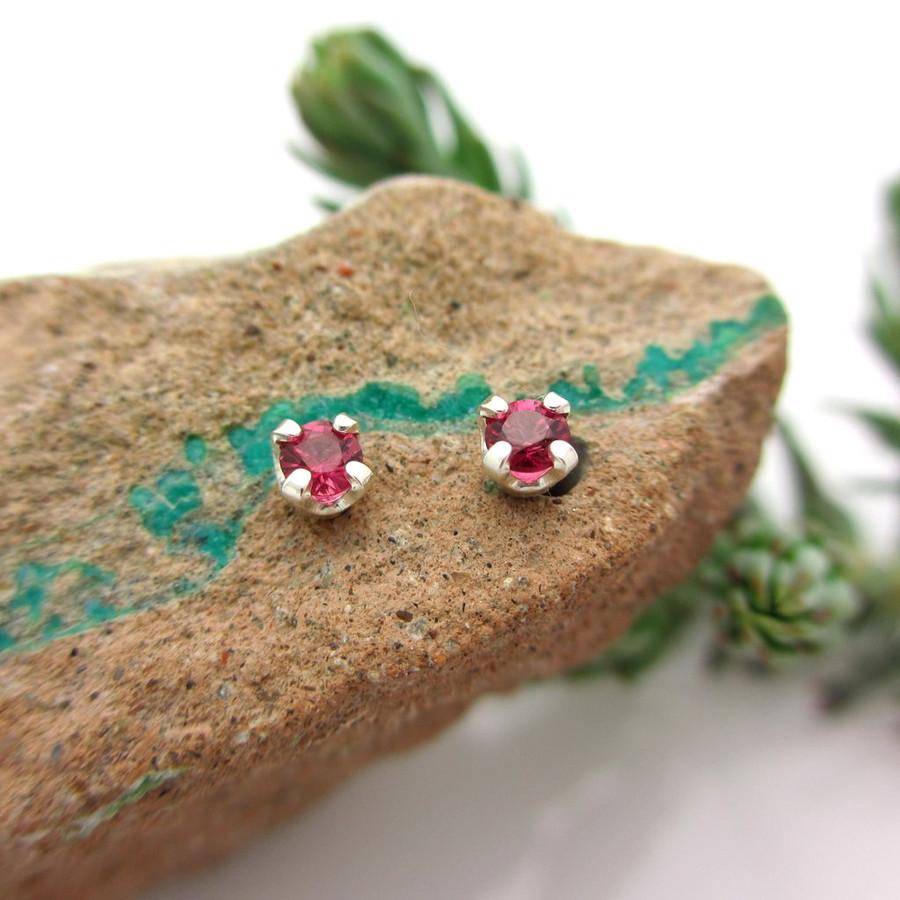 Ruby Stud Earrings