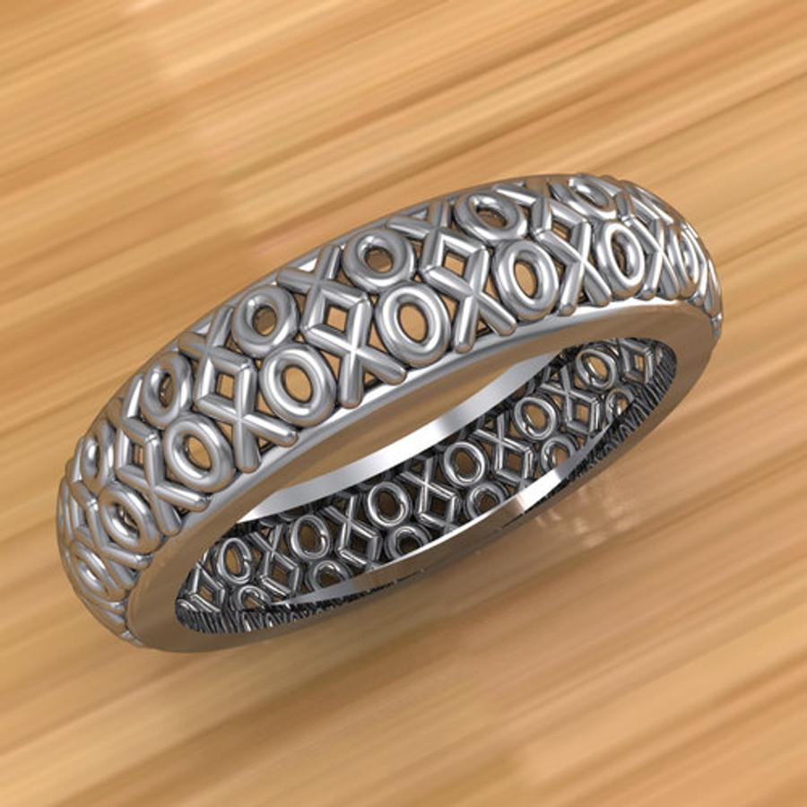 XOXO Hugs and Kisses Filigree Ring | Custom Wedding Band