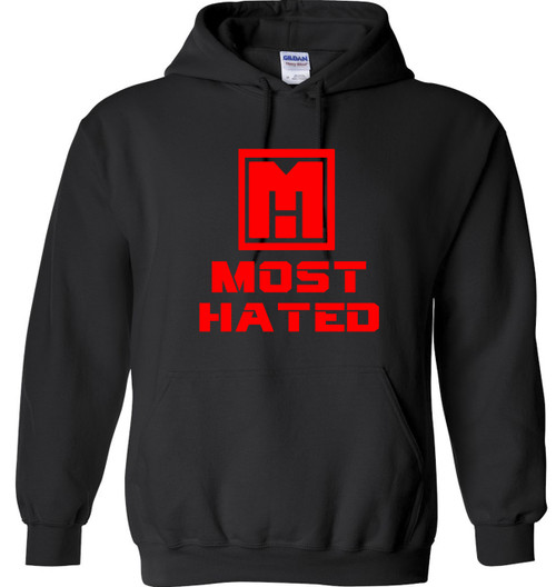PULLOVER HOODIE BLK/RED
