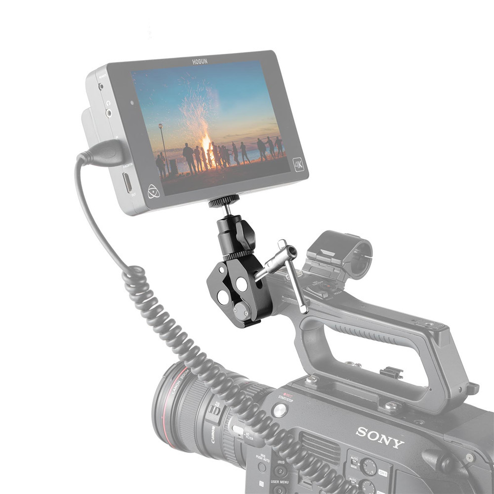 """SmallRig Clamp Mount with 1/4"""" Screw Ball Head Mount 1124"""
