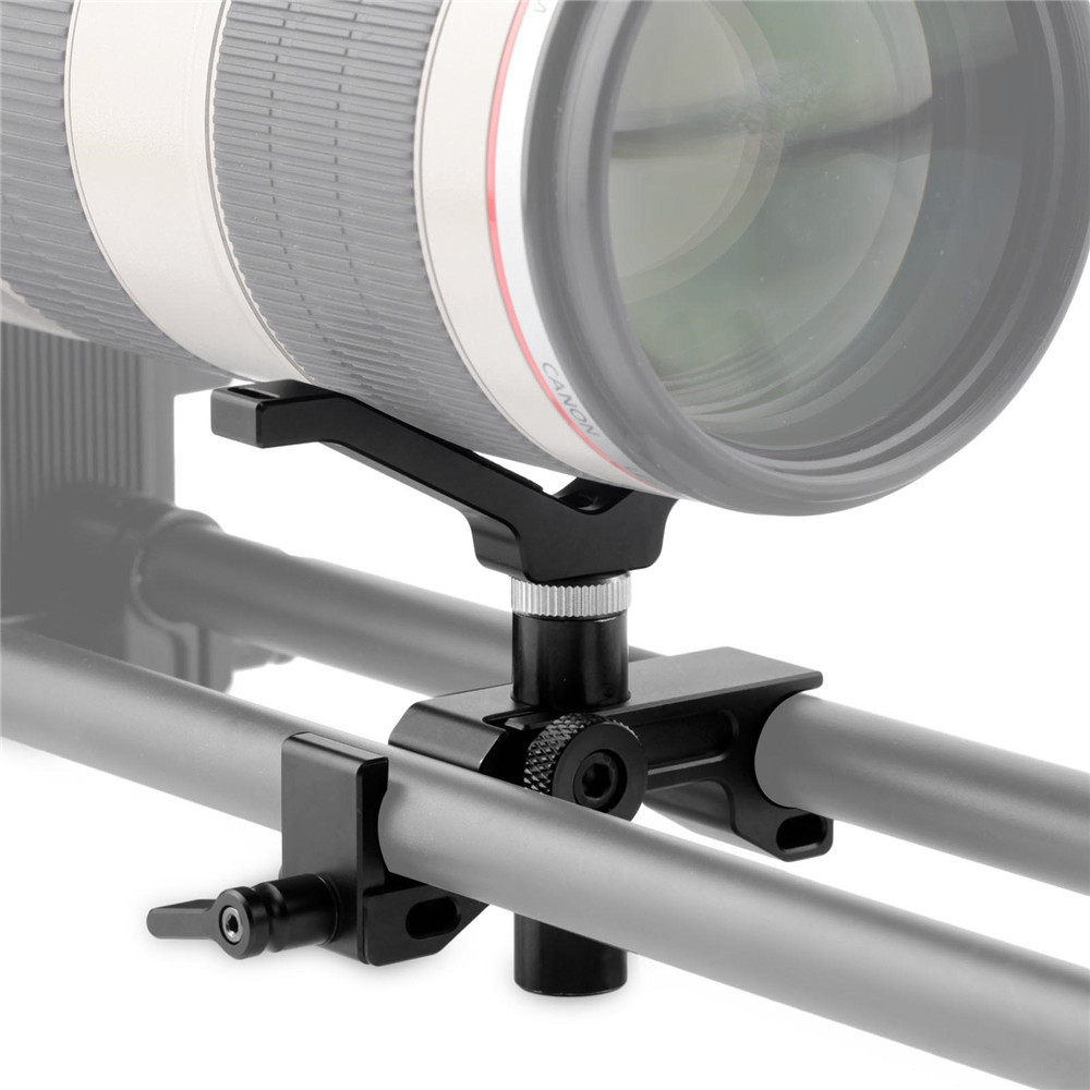 SMALLRIG QR Lens Support with 15mm LW Rail Clamp 1901