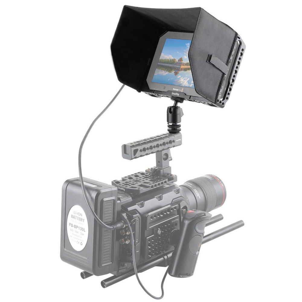 "SMALLRIG 7"" Monitor Cage with Sunhood for Blackmagic Video Assist 1988"