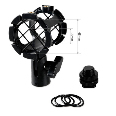 SMALLRIG Microphone Shock Mount for Camera Shoes and Boompoles 1859