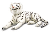 Zenna the White Tiger - Giant Stuffed White Tiger