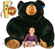 Big Bart the Black Bear - Giant Stuffed Animal