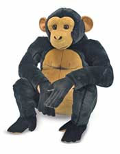 Ceasar the Chimpanzee - Large Stuffed Chimp