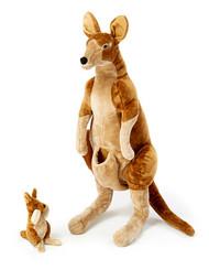 Kanga and Roo - Giant Stuffed Kangaroo