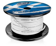 8 AWG Cable, 100% Oxygen Free Tinned Copper, Iced Clear, 250ft Spool