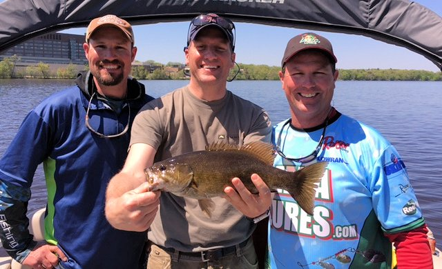 Minnesota Fishing Opener with Senator Kurt Dowd and (Doug Hanson [left], Todd Bissett [right])