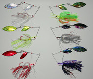 6 - FoilUr Spinner Bait - 1 of each of the best fish catching colors